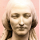 Bust of Elizabeth McArthur Caird by Raffaelle Monti (1818-1881). - This sculpture was commissioned by Elizabeth McArthur Caird the wife of James T. Caird as one of a pair of busts of themselves to mark the 40th birthday of James T. Caird (1816-1888). - 1978.238 - © McLean Museum and Art Gallery, Greenock