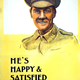 First World War recruitment poster 'He's Happy & Satisfied - Are You?' published by the Parliamentary Recruiting Committee in 1915. - 1996.100.228 ©McLean Museum and Art Gallery, Greenock.