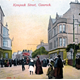 Kempock Street, Gourock - colour lithograph postcard posted on 23 July 1908 - 1996.80.25 - © McLean Museum and Art Gallery, Greenock
