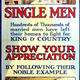 First World War recruitment poster 'Single Men', published by the Parliamentary Recruiting Committee in 1915. - 1996.100.180 ©McLean Museum and Art Gallery, Greenock.