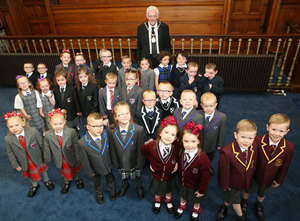 16 sets of twins with Provost Brennan