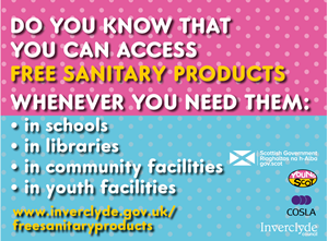 Access to free sanitary products