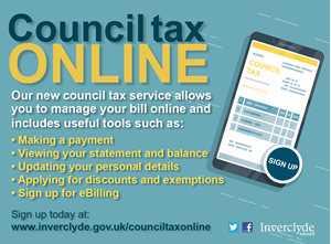 Council Tax online graphic