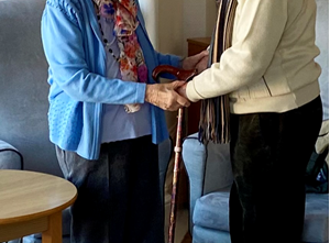 Moving reunion as care home visits resume
