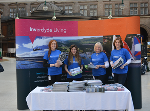 Inverclyde Living stand at Central Station, Glasgow