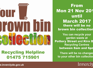 Brown Bin Collections 2016